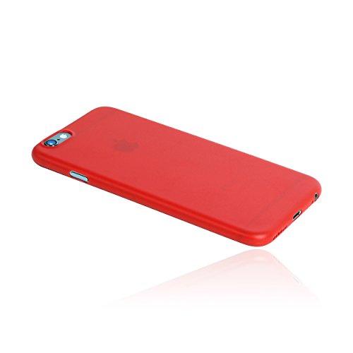 hardwrk ultra-slim Case für iPhone 6 6s - solid white - ultradünne Hülle für Apple iPhone in weiß solid red