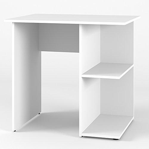 VICCO Schreibtisch SIMPLE 76 x 82 cm Sonoma Eiche oder Weiß - Schminktisch PC Tisch Kinderschreibtisch Arbeitstisch Computer Regal Büro Eckschreibtisch (Weiß)