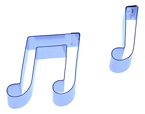 Musical Notes-Set, Ausstecher-Set aus Edelstahl, 2 Stück, 24 x 32 mm 25 x 8 mm-Valley-Company Ausstechformen Fondant, Kuchendeko, Zuckerfiguren, Polymer und Edelmetall-Ton - Edelmetall-ton