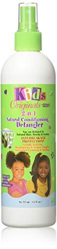 Africa's Best Kids Organics - Detangler 2 en 1 pour enfant - A base d'huile d'olive - Flacon pompe de 355 ml