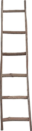 Scala in legno decorativa - Portasciugamani - Ideale per Bagno, Camera e altri ambienti -44x8x180 cm
