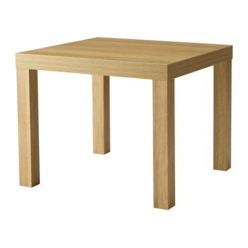 Ikea Falta - Mesa Auxiliar, Efecto Roble - 55x55 cm