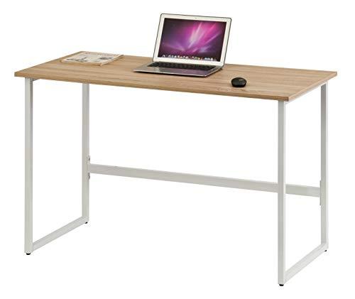 hjh OFFICE 674230 Schreibtisch WORKSPACE Light Eiche hell/Weiß schmaler Computertisch mit Stahl-Gestell 120 x 60 cm - Eiche Hell Büro
