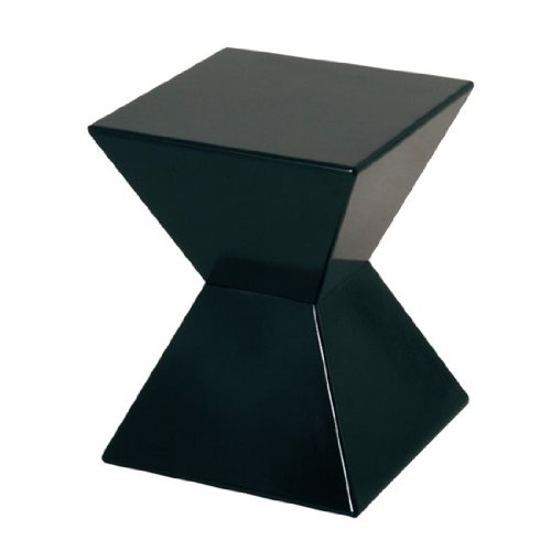 EDGE Funky Black High Gloss Lacquered End Table