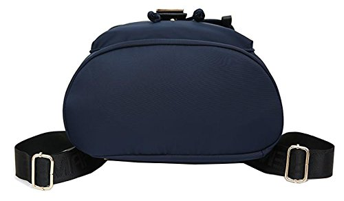Tibes tessuto di Oxford di Daypack dello zaino casual per le donne Blu