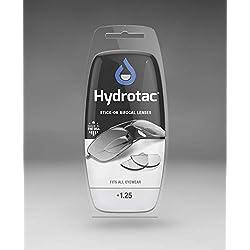 Lentilles de lecture Hydrotac +1.25D/Lentilles adhesives correctrices de près/Lentilles de lecture pour Lunettes de Soleil-Sport-Ski/Lentilles adhesives Bifocales/+1.25D