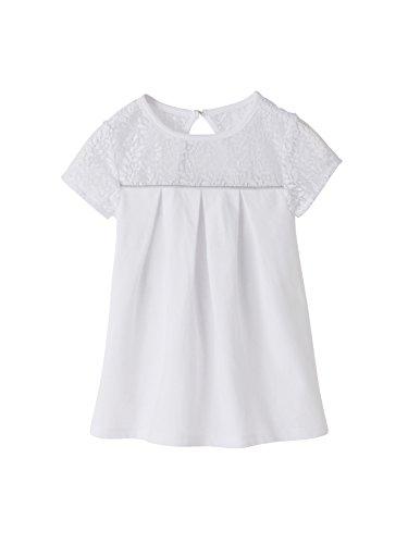 Vertbaudet Festliches Mädchen T-Shirt, Spitze Weiß 158