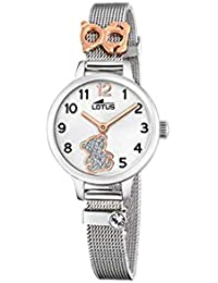 Lotus - Reloj para Niña Osito con Caja y Armis de Acero, Cierre de Hebilla
