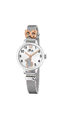 8716b99c013f Lotus - Reloj para Niña Osito con Caja y Armis de Acero