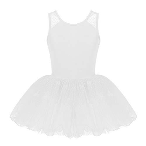 0f5957c24be YiZYiF Ragazza Leotard Vestito da Balletto Tutu Principessa Classica  Dancewear Body Ginnastica in Pizzo Polka Dots