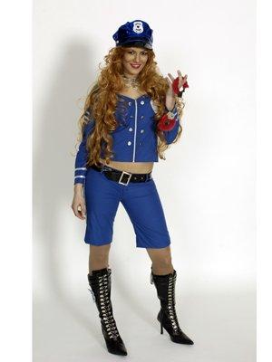 Kostüm Police-Girl Größe 40-42 (Police Girl Kostüm Für Halloween)