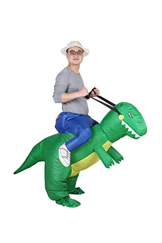 Aufblasbares Kostüm Carry-me Huckepack Dinosaurier Cosplay für Fasching Erwachsene (Carry Me Kostüm Weihnachten)