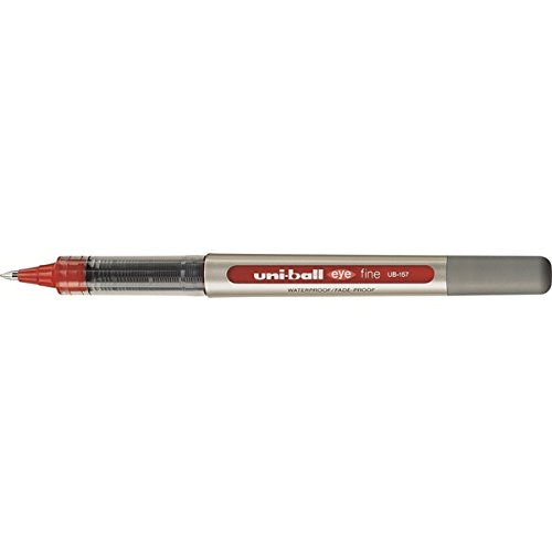 Preisvergleich Produktbild UniBall EYE UB 157, Rollerball Kugelschreiber, Rot, 1 Stück
