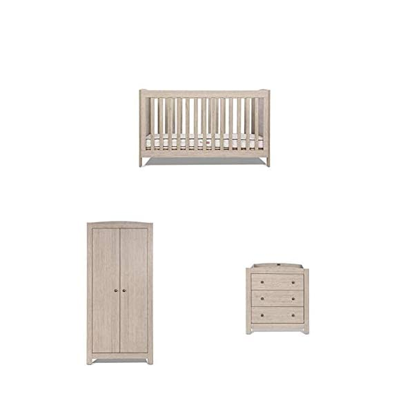 Silver Cross New England Complete Furniture Set Silver Cross 3 base height positions Suitable from birth to 4 years Converts into toddler bed 1