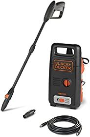 Black+Decker 1300W 100 Bar Pressure Washer for Home, Garden and Cars, Black/Orange - BXPW1300E-B5