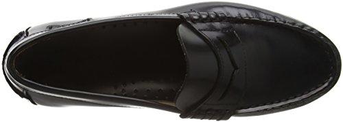 Sebago Plaza Ii, Mocassins Femme Noir (Black Leather)