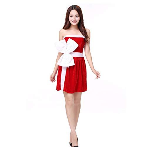 Weihnachten Weiblich Kostüm - TUWEN WeihnachtskostüM Weihnachten Kleid Cosplay Anime Weihnachten KostüM Leistung WeihnachtskostüM Weibliche ErwachsengrößE