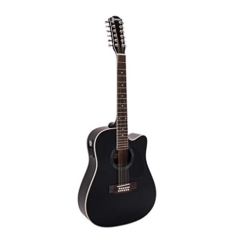 DIMAVERY DR-612 Western-Gitarre 12-saitig, schwarz