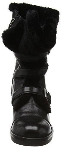 Geox D Demy B, Bottes Motardes Femme Schwarz (BLACKC9999)