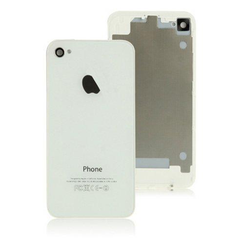 HIPOPAPO - Coque arrière de remplacement vitre iPhone 4S blanc. Livré avec tournevis pentalobe