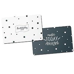 Huckleberry Home® Premium RFID Blocker Karten - NFC Schutz Kreditkarte - Schutzkarte für Geldbeutel - Mit innovativer Störsender Technologie - 2 Karten - 0,8 mm dünn
