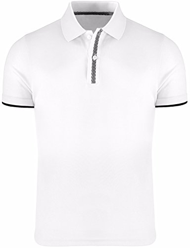 Bcpolo Herren Polo Shirt Kurzarm Dri Fit Casual Solid Performance Polo Shirt White