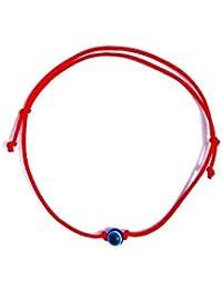 Bracelet en fil rouge Nillio Lucky Kabbale Cordon Filetage Bijoux Fortune  protection mauvais œil Bleu perle 49dd10a38415