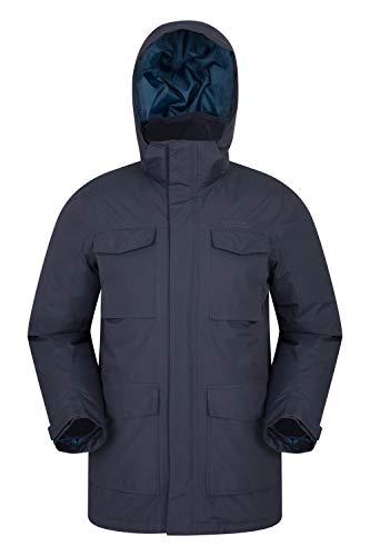 Mountain Warehouse Concord Extreme Herren Daunenjacke,wasserdichte,Gefütterte, Warme,Winterjacke, Regenjacke Blau Small
