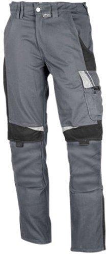Arbeitshose (PKA BestWork Bundhose Arbeitshose (48, Grau/Schwarz))