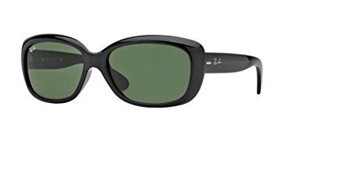 Ray-Ban RB4101 JACKIE OHH 601 58M Black/Green Sunglasses