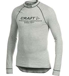 Craft Sous-vêtements Homme Be Active ras de cou gris avec logo gris Taille XS
