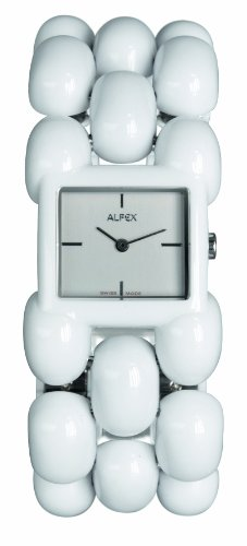 Alfex – 5681 _ 770 – Ladies Watch – Analogue Quartz – White Plated – White Dial – Steel Bracelet