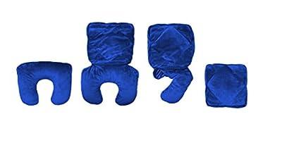 Nackenhörnchen; Reisekissen; Rückenkissen; Buchkissen; Tablet-PC-Kissen; 4-in1-Multifunktionskissen ONE4GO; blau