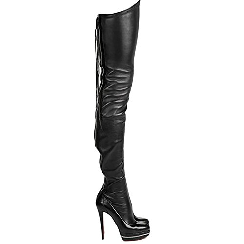 Women's Sky High Heels Platfrom Shoes Over The Knee Club Party For Girls Boots