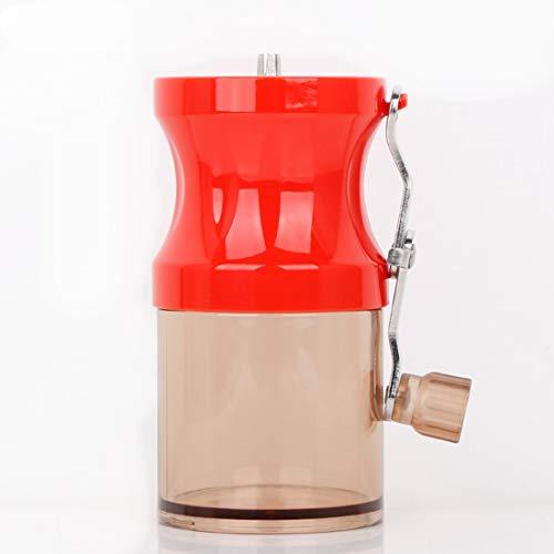 Yajiemei Hand Grinder Kaffeebohne Grinder Manuelle Mühle Mini Tragbare Kaffeemaschine Haushalts Grinder (Color : Red)