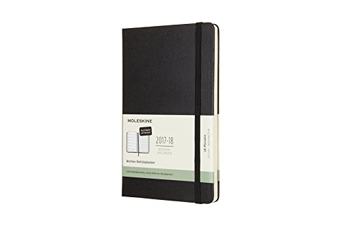 Moleskine 8051272894721 Weeks – Calendar 2018, German Hard Cover Black, 18 Months