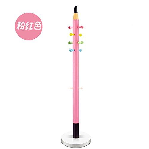 ZXHBB Kinder- Bleistift Mantel Stock Cartoon Schlafzimmer Wäscheständer Und Kreative Home Rosa