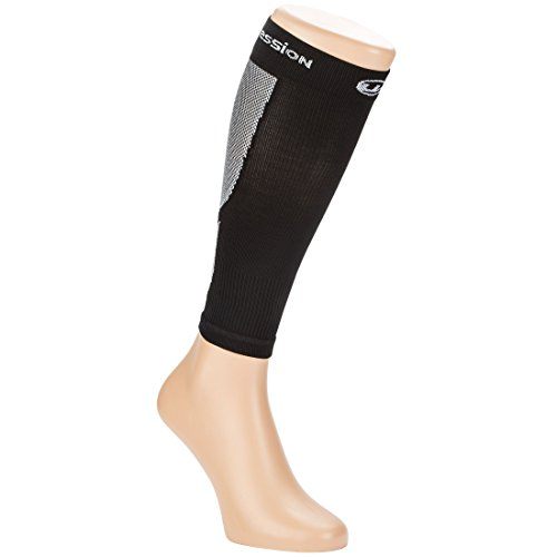 Ultrasport compression leg warmers, high-performance compression gaiters with compression level 23-32 mmHg - leg warmers for intensive running, suitable for women and men