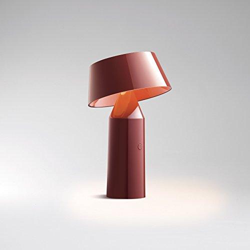 """Marset–lámpara de mesa LED inalámbrico """"bicoca (rojo burdeos)"""