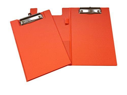 A5Neon Orange Klemmbrett mit Stiftehalter (Kleine Zwischenablage Speicher)