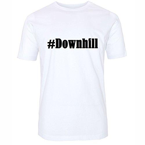 T-Shirt #Downhill Hashtag Raute für Damen Herren und Kinder ... in der Farbe Weiß Weiß