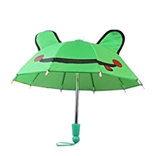 Yissma - Paraguas Infantil con diseño de Animales en 3D, Adecuado para niños y niñas Verde Verde