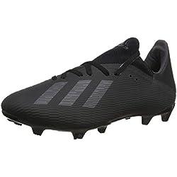 adidas X 19.3 Fg, Scarpe da Calcio Uomo, Nero (Core Black/Utility Black/Silver Met. Core Black/Utility Black/Silver Met.), 42 EU