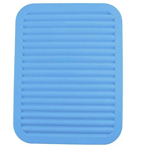 Silica Gel Pot Cushion, Heat Insulation Cushion, Food Cushion, Anti-Skid Cushion Plate, Bowl Cushion and Cup Cushion, Blue (Square mat) -