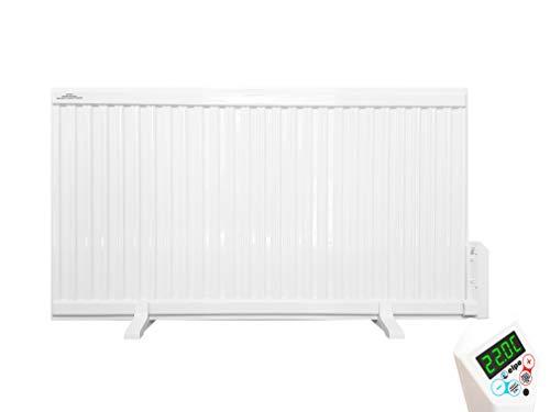 ELPE Elektro- Paneelheizkörper Premium IP44 Ölradiator Heizgerät | 350-2000W mit Radiator | LCD (2000W mit Radiator (60x114 cm))