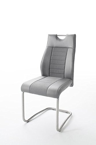 123wohndesign Schwingstuhl - grau - Kunstleder
