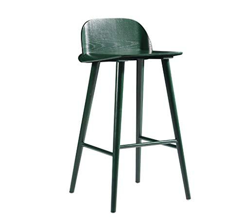 Flowing Water Hohe Massivholz Einfache Hohe Hocker Holz Quadratischen Sitz Haushalt Make Up Stuhl Wohnzimmer Esstisch Tisch H:75Cm,Green - Leder-falt-hocker
