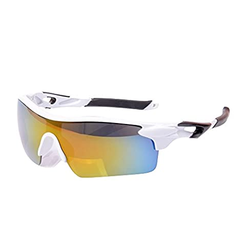 Eizur Unisex Cycling Sunglasses Outdoor Sports UV400 Protection Wrap Goggles for Running Driving Riding Golf Fishing for Men Women 9 Colors