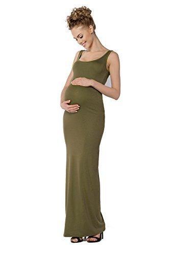 himom-damen-schwangerschaft-langes-top-maxi-kleid-gesamtlange-bodycon-plus-grossen-8-18-fm18-khaki-3