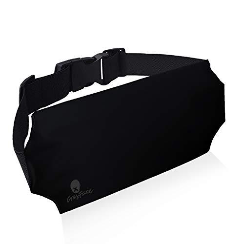 CrosFace Universelle Wasserdichte Tasche Hüfttasche (iPhone X/11/8/7/6/XR/XS/Max/Plus/Pro, Samsung Galaxy S10/S9/S8 & Mehr). Schützender Handy Bauchtasche zum Schwimmen, Wandern, Kanufahren und Laufen
